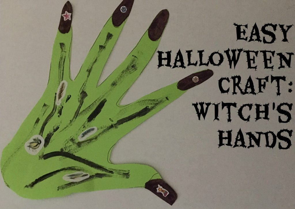 Easy Craft For Halloween: Witch's Hands