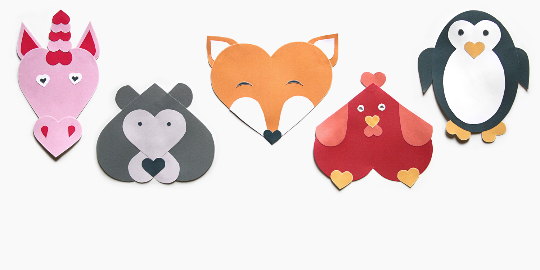 Free Heart-Shaped Animal Printables