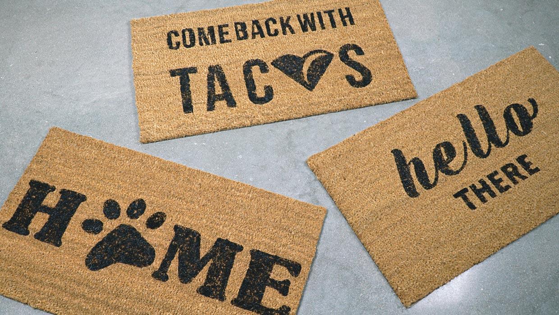 DIY Doormat Printable Stencils