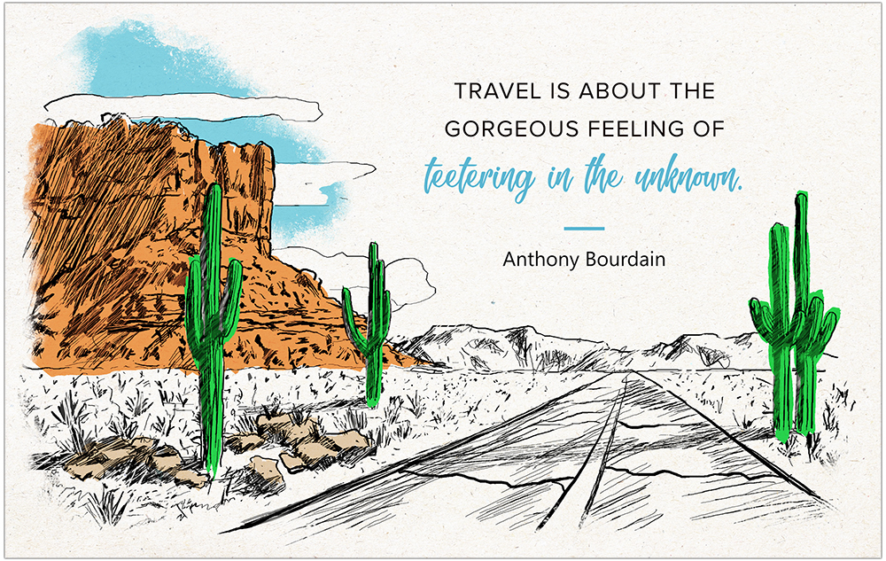 Postcard printables + inspirational travel quotes