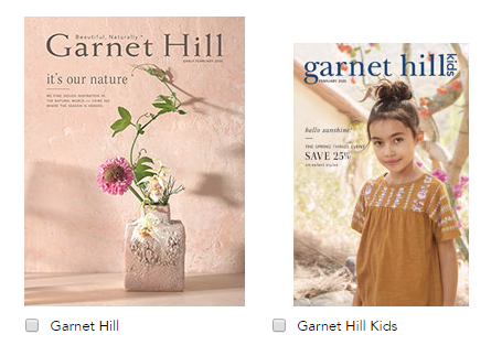 Free Garnet Hill Catalogs